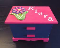 personalized girl jewelry box kids jewelry box etsy