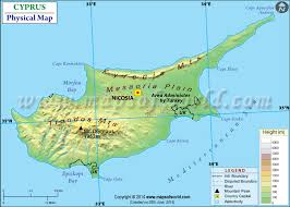 map of cyprus map of cyprus