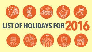 list 2016 philippine holidays