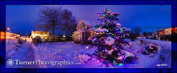 snowy christmas lights turner photographics