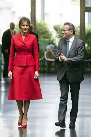 first lady melania trump chooses dior to pay tribute to france u2013 wwd