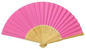 folding fans folding paper fan 8 25 light pink