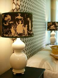 custom fabric covered lampshade hgtv