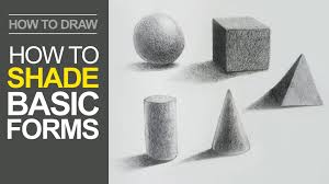 how to shade basic forms pencil tutorial youtube