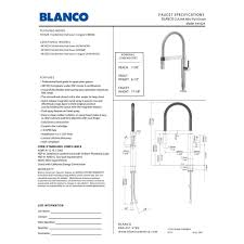1 5 Gpm Kitchen Faucet Blanco 441624 Culina Polished Chrome Pro Pre Rinse Units Kitchen