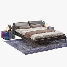 3d natuzzi vela bed set cgtrader