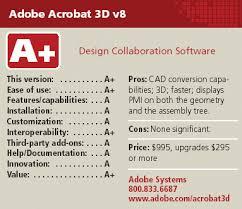 adobe acrobat 3d v8 cadalyst labs review cadalyst