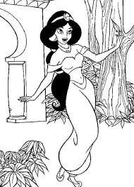 princess coloring pages for girls jasmine cartoon coloring pages