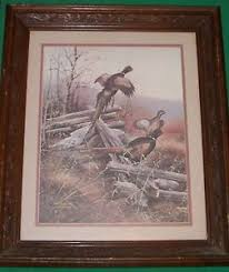 home interior deer picture vtg maroon home interior silent buck deer picture pheasant
