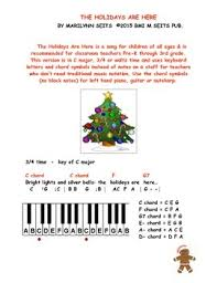 the holidays are here children s song about during the