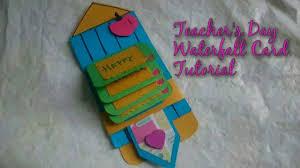 diy teacher u0027s day waterfall card making idea how to craftlas