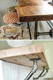 Diy Industrial Desk by 10 Diy Industrial Pipe Projects For The Home The Nice Nest