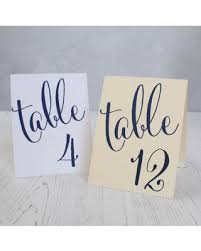 here s a great price on navy blue wedding table number signs