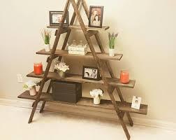 rustic ladder shelf etsy