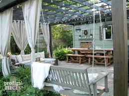 swing pergola repurposed planter patio decor refreshed prodigal pieces
