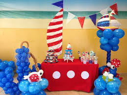 Balloon Decoration For Birthday At Home by Nautical Balloon Decor Generoso 1st Bday Pinterest Balloon