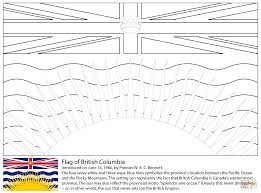 flag of british columbia coloring page free printable coloring pages