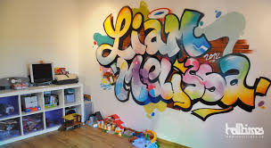 tag pour chambre graffiti fresque chambre enfant halltimes graffeur toulouse