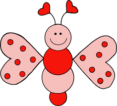 insect clipart cute pink butterfly pencil and in color insect