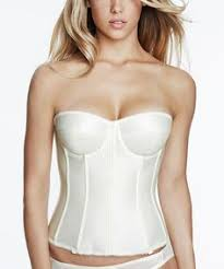 Corset Wedding Lingerie Exquisite Satin Strapless Corset With Boning Hook U0026 Eye Front