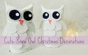 owl christmas diy snow owl christmas decorations