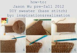 how to knit a sweater inspiration and realisation diy fashion diy jason wu pre