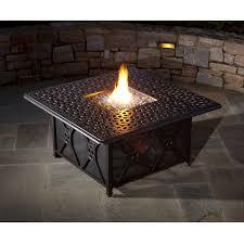 Gas Fire Pit Table Sets - alfresco home ramblas propane gas fire pit chat table