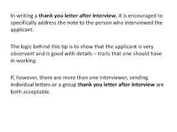 interview thank you letter 5 interview thank you letter samples1
