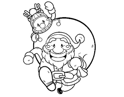 father christmas rudolph coloring coloringcrew