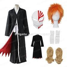 bleach kurosaki ichigo cosplay costume whole set cloak pants belt