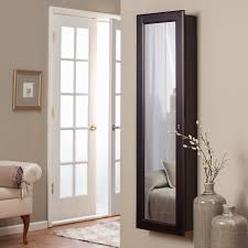 Computer Armoire Espresso by Belham Living Lighted Wall Mount Locking Jewelry Armoire
