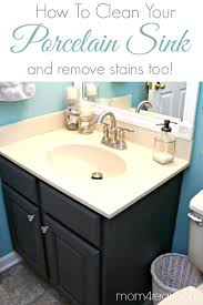 How To Clean A Farmhouse by How To Get A Clean Porcelain Sink And Remove Rust Stains Too
