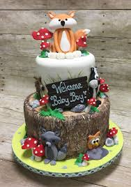 marvellous woodland themed baby shower cake 85 with additional