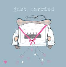 just married cards stop the clock qb13 wedding greeting card just married bridal