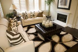 decorating ottoman coffee table with living room with fireplace