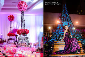 Paris Centerpieces Nicole U0027s Quinceanera At Fontainebleau Miami Beach U2013 Domino Arts