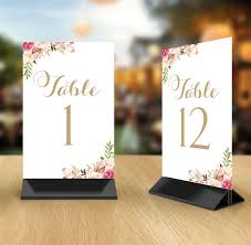 Vintage Table Number Holders Table Number Cards 1 Through 25