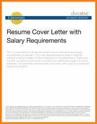How To Salary Requirements Cover Letter Salary History Cover Letter Gallery Cover Letter Ideas