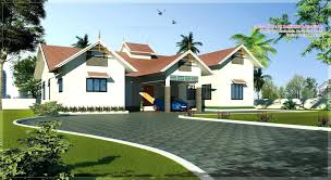 contemporary single floor house plans keralaone storey design