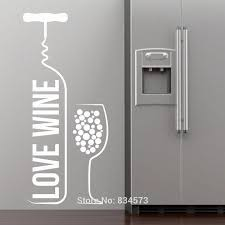 love wine bottle wine glass wall art stickers decal home diy