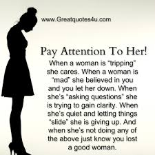 A Good Woman Meme - gr8 ppl gr8 thoughts pay attention to her
