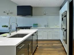glass backsplashes for kitchens modern white glass bricks kitchen backsplash design with glass