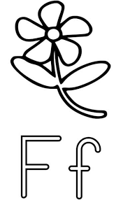 f for flower free alphabet coloring pages alphabet coloring