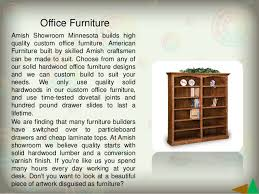 Office Furniture Minnesota by Amish Furniture For Sale Www Amishshowroom Com