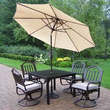 Outdoor Patio Dining Sets With Umbrella - oakland living elite all weather wicker patio dining set oakland