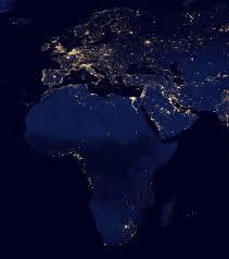 South America Satellite Map by Night Satellite Photos Earth U S Europe Asia World