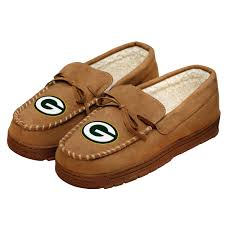 ugg moccasins sale mens green bay packers moccasin slippers at the packers pro shop