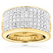14k gold mens wedding band 14k gold mens designer diamond wedding band 2 05ct