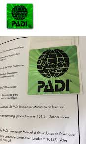 books and video 73993 padi dm divemaster application hologram