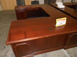 Used U Shaped Desk Hoppers Office Furniture Used Executive U Shape Desk
